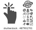 click icon with bonus elements. ...
