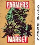 Marijuana Weed Ganja Vector...
