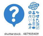 status balloon pictograph with... | Shutterstock .eps vector #487905409