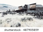 ghost town  cody  wyoming ... | Shutterstock . vector #487905859