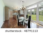kitchen in suburban home with... | Shutterstock . vector #48791113