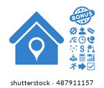 house location pictograph with... | Shutterstock .eps vector #487911157