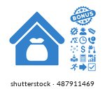 harvest warehouse icon with... | Shutterstock .eps vector #487911469
