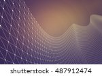 abstract polygonal space low... | Shutterstock . vector #487912474