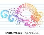 Hand Drawn Summer Hibiscus...