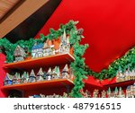 stall with handmade ceramic... | Shutterstock . vector #487916515