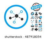 structure pictograph with bonus ... | Shutterstock .eps vector #487918054