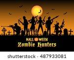 Halloween Zombie Hunters Team...