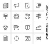 set of project management icons ...
