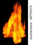 burning 4 isolated on black