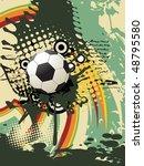football vector artistic design | Shutterstock .eps vector #48795580