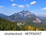 sulphur mountains | Shutterstock . vector #487956547