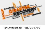 disaster recovery word cloud... | Shutterstock . vector #487964797