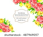 abstract flower background with ... | Shutterstock .eps vector #487969057
