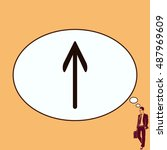 arrow indicates the direction ... | Shutterstock .eps vector #487969609