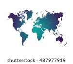 colorful map of the world.... | Shutterstock .eps vector #487977919
