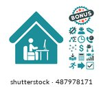 office room icon with bonus... | Shutterstock .eps vector #487978171
