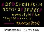 alphabet letters lowercase ... | Shutterstock .eps vector #487985539