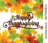thanksgiving background with... | Shutterstock .eps vector #487985821