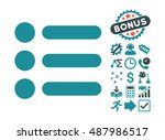 items icon with bonus images.... | Shutterstock .eps vector #487986517