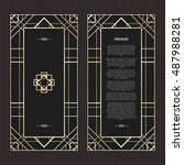 vector geometric cards in art... | Shutterstock .eps vector #487988281