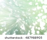 bokeh light blue and green... | Shutterstock . vector #487988905
