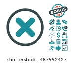 cancel pictograph with bonus... | Shutterstock .eps vector #487992427
