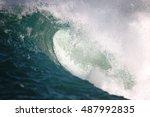 ocean wave | Shutterstock . vector #487992835