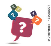 vector information exchange faq ... | Shutterstock .eps vector #488000074