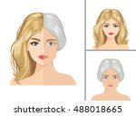 vector aging process. young...