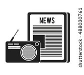 newspaper communication news | Shutterstock .eps vector #488030761
