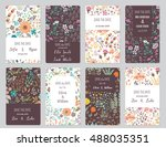 vector set of card templates.... | Shutterstock .eps vector #488035351