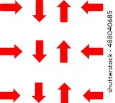 straight arrows   Shutterstock .eps vector #488040685