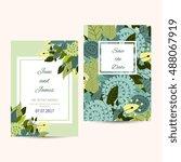 cute invitation design template ... | Shutterstock .eps vector #488067919