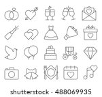 wedding outline web icon set | Shutterstock .eps vector #488069935