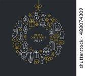 Christmas Ball Design With Thi...