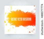 abstract paint splashes set for ... | Shutterstock .eps vector #488077774