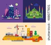 modern flat design conceptual... | Shutterstock .eps vector #488077831