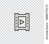 Video icon vector, clip art. Also useful as logo, web element, symbol, graphic image, transparent silhouette and illustration. Compatible with ai, cdr, jpg, png, svg, pdf, ico  and eps formats. - stock vector