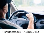driving a car  view from the... | Shutterstock . vector #488082415