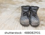 safety leather man shoe on the...   Shutterstock . vector #488082931