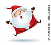 santa claus feeling excited | Shutterstock .eps vector #488083585