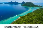view on top of bohey dulang... | Shutterstock . vector #488088865