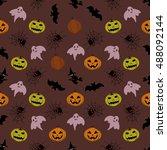 halloween background | Shutterstock .eps vector #488092144
