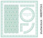 vintage border pattern 371... | Shutterstock .eps vector #488095261