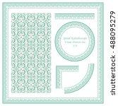 vintage border pattern 373... | Shutterstock .eps vector #488095279