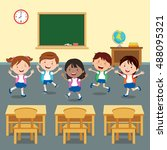 back to school. vector... | Shutterstock .eps vector #488095321