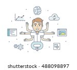 office character developer in... | Shutterstock .eps vector #488098897
