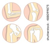 set of human joints  elbow ... | Shutterstock .eps vector #488099875