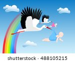 congratulations on your new baby | Shutterstock .eps vector #488105215